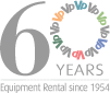60 Years Equipment Rental Since 1954